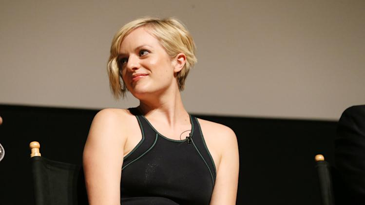 Elisabeth Moss appears on stage at the Mad Men ATAS Event, on Sunday, June 9, 2013 in North Hollywood, Calif. (Photo by Alexandra Wyman/Invision for AMC/AP Images)