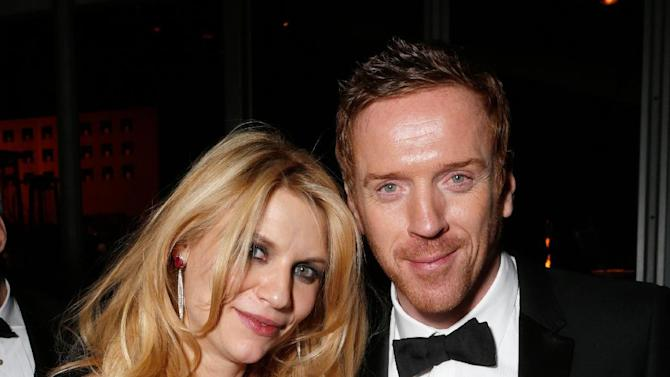 IMAGE DISTRIBUTED FOR FOX SEARCHLIGHT - Actors Claire Danes, left, and Damian Lewis attend the Fox Golden Globes Party on Sunday, January 13, 2013, in Beverly Hills, Calif. (Photo by Todd Williamson/Invision for Fox Searchlight/AP Images)