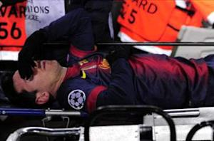 Messi stretchered off against Benfica