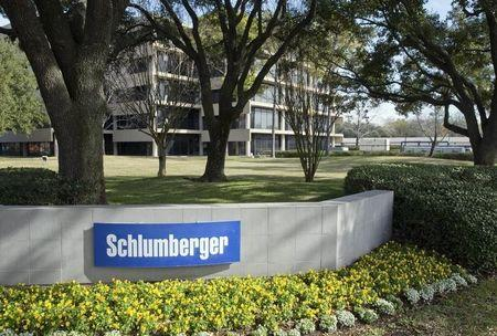 The exterior of a Schlumberger Corporation building is pictured in West Houston