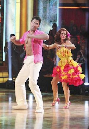 Maksim Chmerkovskiy and Melissa Gilbert perform during Latin week on 'Dancing,' April 16, 2012 -- ABC