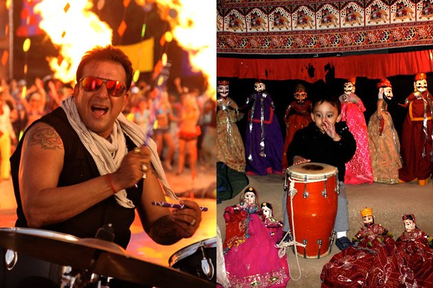 Sanjay Dutt' son Shahraan on the drums