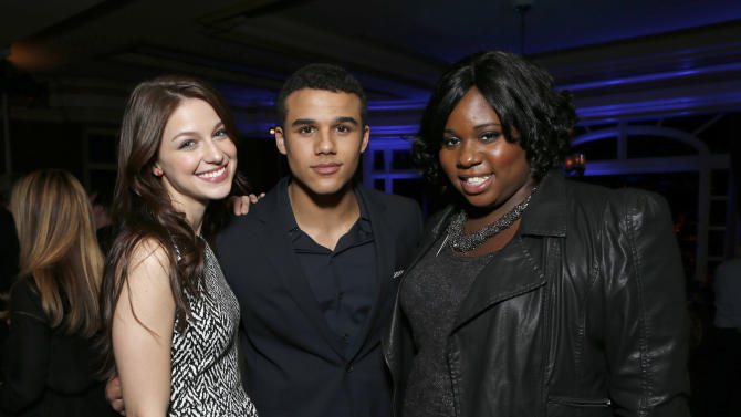 Melissa Benoist, Jacob Artist and Alex Newell attend the Fox Winter TCA All Star Party at the Langham Huntington Hotel on Tuesday, Jan. 8, 2013, in Pasadena, Calif. (Photo by Todd Williamson/Invision/AP)