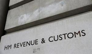 The name is engraved into the stone on the entrance to the HM Revenue & Customs building in Whitehall, central London