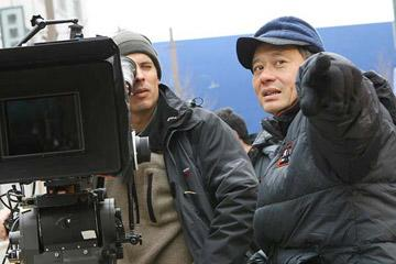 Director of Photography Rodrigo Prieto and Director Ang Lee behind the scenes of Focus Features' Lust, Caution