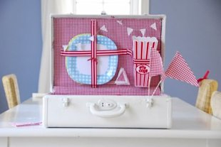 Picnic Basket in a Suitcase