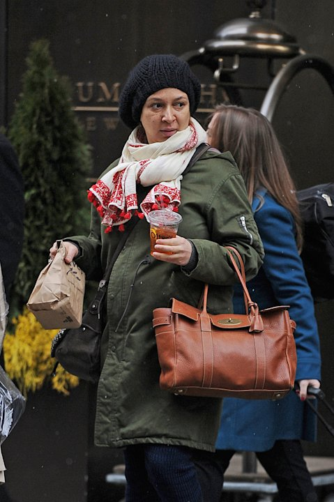 A very pregnant Maya Rudolph shows off her baby bump in SoHo