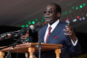 Zimbabwe's President Robert Mugabe delivers a speech …