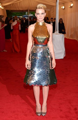 Met Ball 2012: Carey Mulligan's Prada Dress On eBay PLUS Nina Dobrev Cut Out Of Donna Karan Dress!
