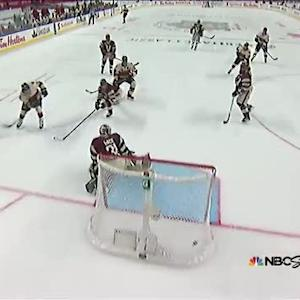 Cody Ceci snaps one past Eddie Lack