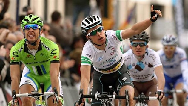 Gianni Meersman (Omega Pharma-Quick Step) y Daniele Ratto (Cannondale)