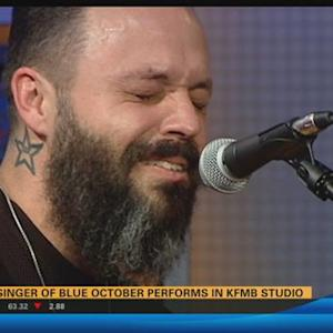 Lead singer of Blue October performs at KFMB Studios