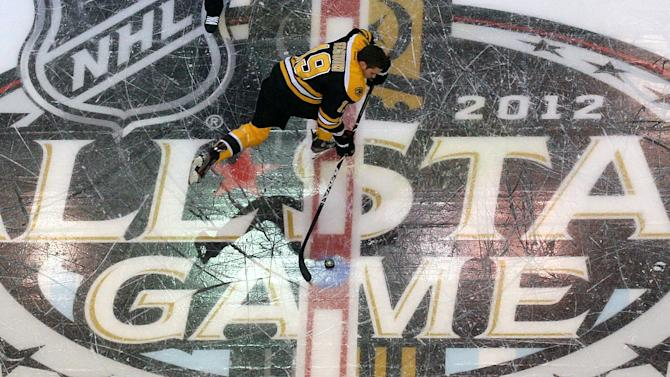 FILE  - In this Jan. 28, 2012, file photo, Boston Bruins' Tyler Seguin takes part in the NHL All-Star skills hockey competition in Ottawa, Ontario.  The NHL announced Friday, Nov. 23, 2012, that they are calling off all games through Dec. 14, plus the 2013 NHL All-Star Weekend scheduled for Jan. 26-27 in Columbus, Ohio.  A total of 422 regular-season games, more than 34 percent of the season, have now been lost becuase of the NHL's lockout of its players. (AP Photo/The Canadian Press, Sean Kilpatrick, File)