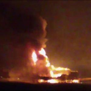 Raw: Fire at Oil Rig Kills 4 in Gulf of Mexico