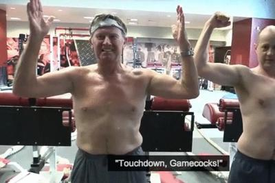 Of course you want to watch Steve Spurrier work out