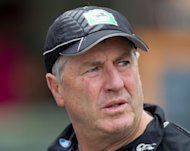 New Zealand coach John Wright, pictured here on March 23, will step down from the national side in August after rejecting an offer to extend his contract, New Zealand Cricket chief executive David White said Tuesday