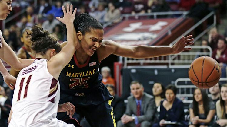 No. 9 Maryland women coast past BC, 92-66