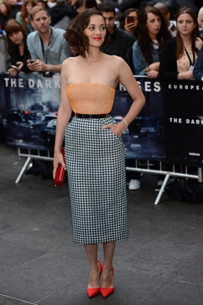 Actress Marion Cotillard attends European premiere of &amp;#39;The Dark Knight Rises&amp;#39; at Odeon Leic