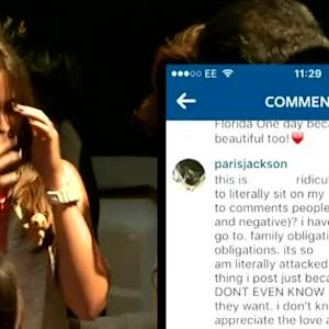 Paris Jackson Admits She Attends AA Meetings While Responding to Instagram Bullies