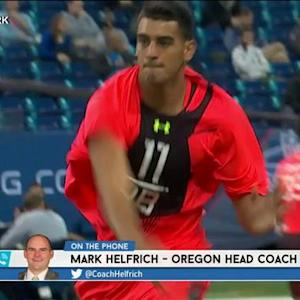 RES: Oregon head coach Mark Helfrich on quarterback Marcus Mariota's NFL future