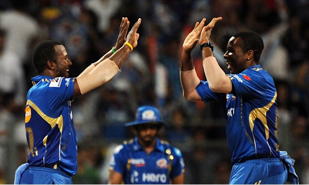 Mumbai Indians cricketers Dwayne Smith (