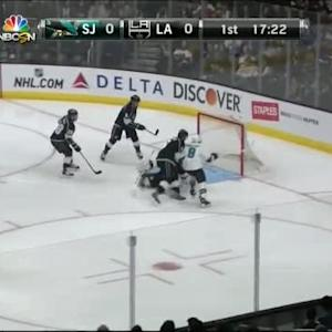 Joe Pavelski Goal on Jonathan Quick (02:39/1st)