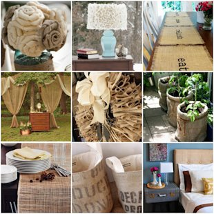 8 ways to decorate with burlap