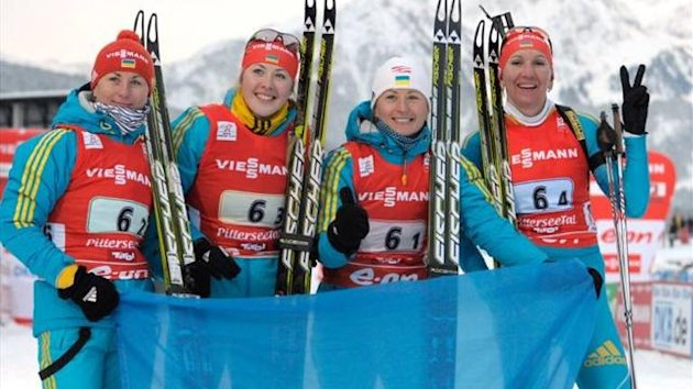 Ukraine women's relay team biathlon