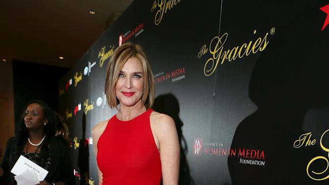 Brenda Strong arrives at Sexy Hair Celebrates The Gracies Presented By The Alliance For Women In Media Foundation, on Tuesday, May, 21, 2013 in Beverly Hills, Calif. (Photo by Alexandra Wyman/Invision for Sexy Hair/AP Images)