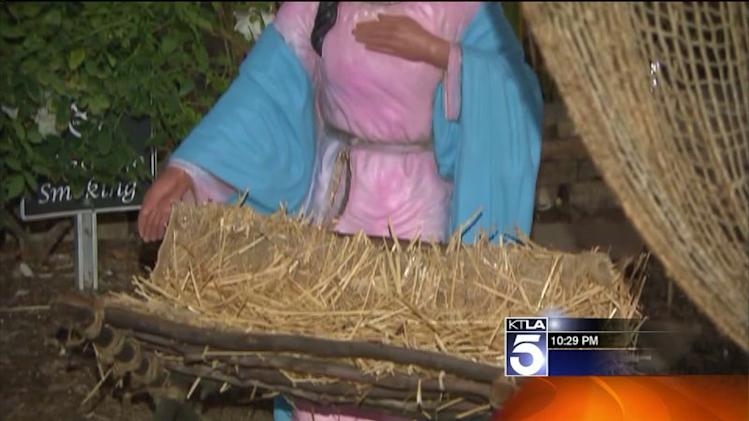 Baby Jesus Stolen From Nativity Display at Valencia Mall