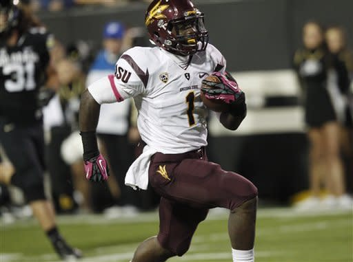 Kelly's 5 TDs lead ASU to 51-17 win at Colorado