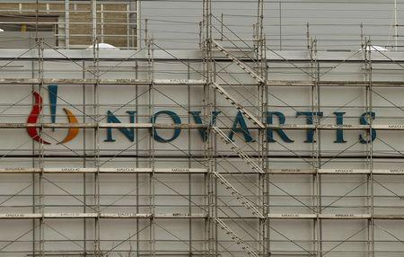 Swiss drugmaker Novartis' logo is seen at the company's plant in the northern Swiss town of Stein
