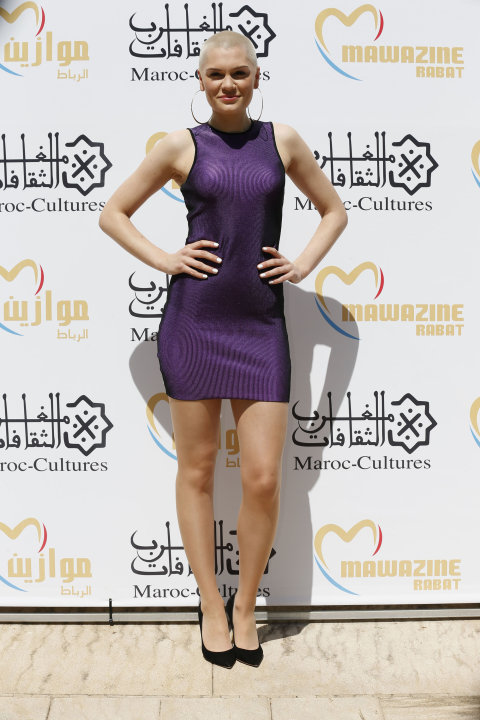 Singer Jessie J poses for a photo at the 12th Mawazine World Rhythms International Music Festival in Rabat