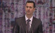 Syrian President Assad Gives Live TV Address
