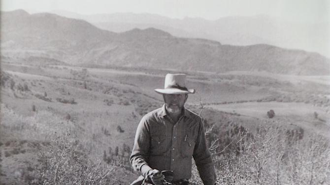 "This undated photo shows Wayne Hage riding his horse on Table Mountain, Nev.  For decades Nevada cattle rancher Wayne Hage took the federal government to court, challenging its decision to tightly regulate herd grazing on huge swaths of federal lands that had been used by ranchers like him for more than a century. The government's increased regulation was done in the name of conservation and greater public access, but the restricted access for ranchers became the poster-child for a ""Sagebrush Rebellion,"" a bitter battle between fiercely independent cattle wranglers and Washington's tighter regulation of public lands. (AP Photo/CJ Hadley)"