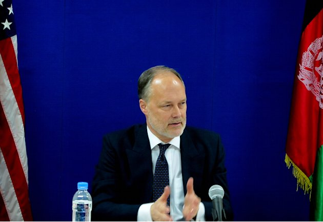 U.S. ambassador in Afghanistan, James Cunningham speaks during a news event at the U.S. embassy in Kabul, Afghanistan, Thursday, Jan. 17, 2013. The American ambassador in Afghanistan says the United S