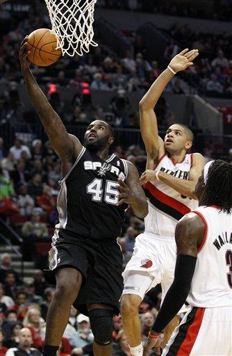 No Parker & Duncan, Spurs fall to Blazers 137-97
