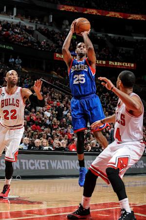 76ers' skid hits 24 games with 91-81 loss to Bulls