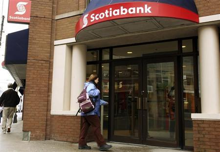Customer walks into the Scotiabank in Halifax