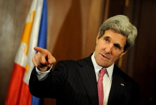 US Secretary of State John Kerry, pictured at the Malacanang Palace before meeting Philippine President Benigno Aquino, in Manila, on December 17, 2013