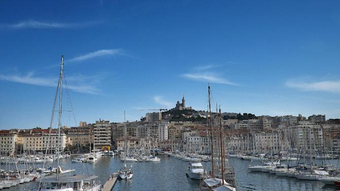 A photo taken on July 18, 2014 shows the old port in Marseille, southern France