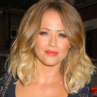 Kimberley Walsh showcased a stunning spring beauty look last night [Rex]