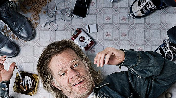 "William H. Macy as Frank Gallagher in ""Shameless."""