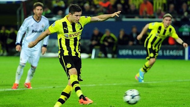 Robert Lewandowski scored all four goals in a wonderful individual display against Real Madrid