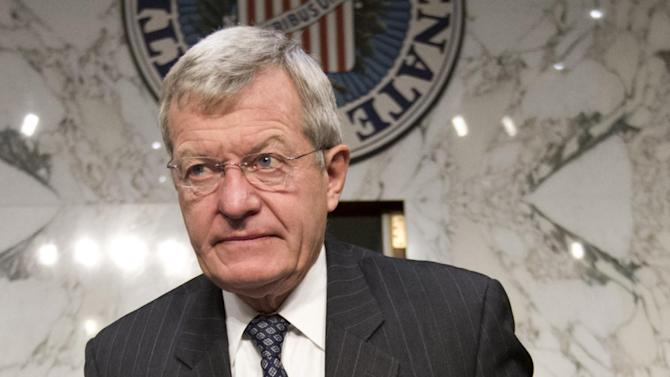 FILE - This Oct. 10, 2013 file photo shows Senate Finance Committee Chairman Max Baucus, D-Mont. on Capitol Hill in Washington. The Senate Foreign Relations Committee will hold a hearing Jan. 28 on President Barack Obama's pick of the retiring Baucus to serve as ambassador to China. The six-term Democratic senator is expected to sail toward confirmation by his colleagues. If confirmed, Baucus would replace Gary Locke, who has announced plans to leave the diplomatic post. Baucus has served in the Senate for more than two decades. Obama announced the nomination last year. (AP Photo/J. Scott Applewhite, File)