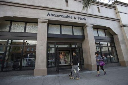 People walk by an Abercrombie & Fitch Co store in Pasadena
