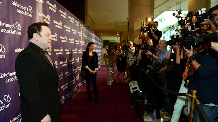 Actor Jason Alexander arrives at the 21st Annual 'A Night at Sardi's' to benefit the Alzheimer's Association at the Beverly Hilton Hotel on Wednesday, March 20, 2013 in Beverly Hills, Calif. (Photo by Jordan Strauss/Invision for Alzheimer's Association/AP Images)