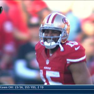 San Francisco 49ers wide receiver Michael Crabtree 60-yard catch