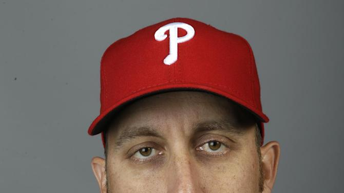 This is a 2015 photo of Aaron Harang of the Philadelphia Phillies baseball team. This image reflects the Philadelphia Phillies active roster as of Friday, Feb. 27, 2015, when this image was taken at spring training in Clearwater, Fla. (AP Photo/Lynne Sladky)