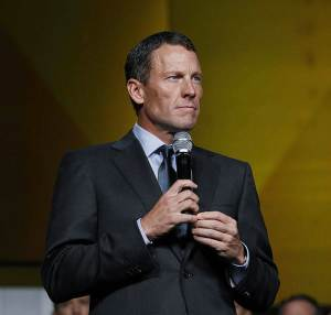 """FILE – In this Oct. 19, 2012, file photo provided by Livestrong, Lance Armstrong speaks in Austin, Texas, at the 15th anniversary celebration of Livestrong. """"The mission is bigger than me. It's bigger than any individual,"""" Armstrong told the gathering at the cancer-fighting charity he founded. As a society how do we explain conflicted feelings about Armstrong?  Well after the famed cancer-beating cyclist admitted lying about doping, he remains a hero to many cancer survivors, a villain to many athletes, and a puzzle to many others. In such realms, our good-and-evil notions have blurred and become more subtle. But how can the nation bring that sensibility to politics, where the stakes arguably higher? (AP Photo/Livestrong, Elizabeth Kreutz, File)"""